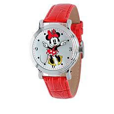 Disney Classic Minnie Mouse Moving Hands Leather Watch