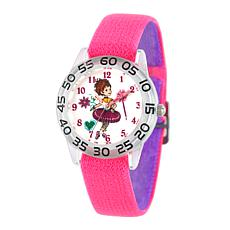 Disney Fancy Nancy Kid's Pink Strap Watch - Clear Bezel