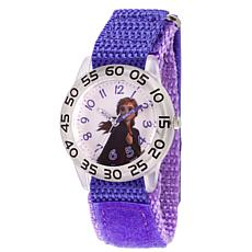 Disney Frozen 2 Anna Girls Clear Watch with Purple Nylon Strap