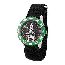Disney Frozen 2 Olaf & Sven Kids' Green Bezel Watch with Black Strap