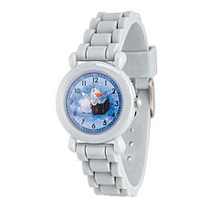 Disney Frozen 2 Olaf Kids' Grey Time Teacher Face Grey Strap Watch