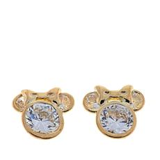 Disney Kids 14K Minnie Mouse CZ Stud Earrings