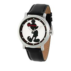 "Disney Mickey Mouse ""The True Original"" Men's Leather Strap Watch"