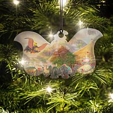 Disney Thomas Kinkade Dumbo Elephant-Shaped Hanging Acrylic