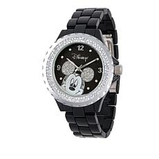 Disney Women's Mickey Mouse Crystal-Accented Watch
