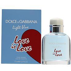 Dolce & Gabbana Light Blue Love Is Love Men's Eau De Toilette 2.5 oz.