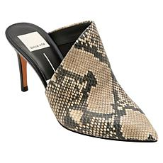 Dolce Vita Camala Snake-Printed Leather Mule Pump