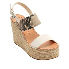 Dolce Vita Spiro Suede and Leather Espadrille Platform Sandal