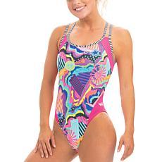Dolfin Uglies Women's Double-Strap Open Keyhole Back Swimsuit