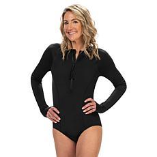 Dolfin Women's Conservative Zip Front Long Sleeve 1-Piece