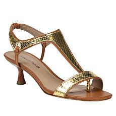 Donald J. Pliner Caro Snake-Embossed Leather Sandal