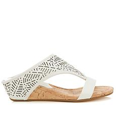 Donald J. Pliner Darin Leather Cutout Thong Sandal