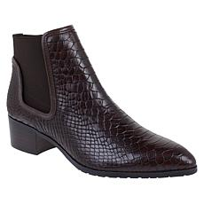 Donald J. Pliner Dyla Double-Gored Leather Bootie