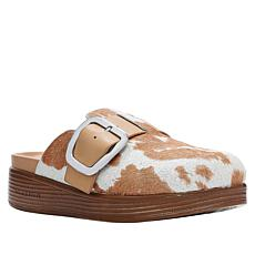 Donald J. Pliner Fiona Printed Haircalf Leather Buckled Mule