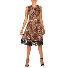 Donna Ricco Sleeveless Printed Scuba Dress