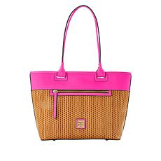 Dooney & Bourke Beacon Leather Woven Zip Tote