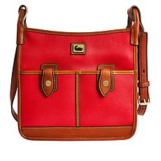 Dooney & Bourke Camden Saffiano Leather Double Pocket Crossbody