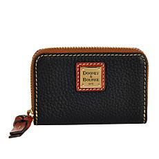 Dooney & Bourke Pebble Leather Ziparound Credit Card Case