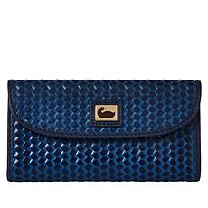 Dooney & Bourke Woven Leather Continental Wallet