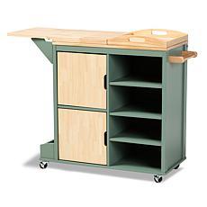 Dorthy Two-tone Wood Kitchen Storage Cart