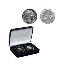 Double-Dated 1938 Buffalo and Jefferson Nickel Coin Set