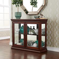Double-Door Curio with Mahogany Finish