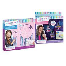 Dreamcatcher and Dream Glow Terrarium Necklace Craft Kit Bundle
