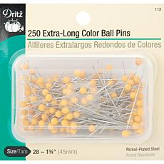 Dritz Extra Long Color Ball Pins - Size 28 250-pack