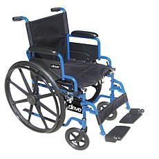 "Drive Medical Blue Streak Wheelchair w Swing Away Footrests, 20"" Seat"