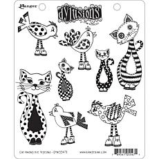 Dyan Reaveley's Dylusions Cling Stamp Collections 8.5X7 - Cat Pigeons