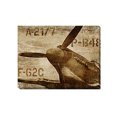 "Dylan Matthews ""Vintage Airplane"" Canvas Wall Art Small"