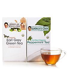 Earl Grey Green Tea AND Peppermint Tea - 30 + 30