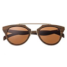 Earth Wood Ceira Polarized Sunglasses with Brown Frame and Lenses