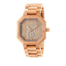 "Earth Wood Goods ""Acadia"" Khaki Wood Bracelet Watch"