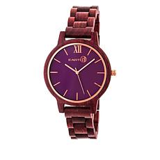 Earth Wood Pike Purple Dial Plum Wood Bracelet Watch