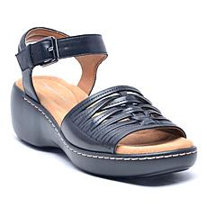 easy spirit Dekah Leather Wedge Sandal