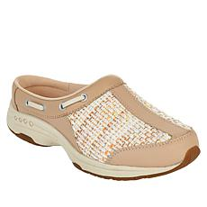 easy spirit Travelport Leather and Fabric Mule Clog
