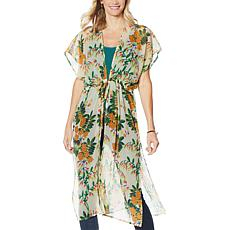 Echo Bluebell Vines Midi Caftan