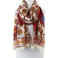 Echo Floral-Print Oblong Scarf