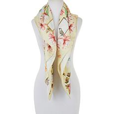 Echo Flourish Square Silk Scarf
