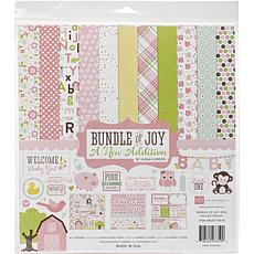 Echo Park Collection Kit 12X12 - Bundle Of Joy/A New Addition - Girl