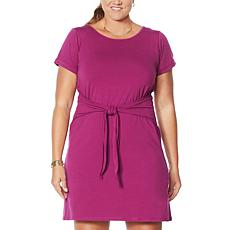 "Eden & Ivy ""Hazel"" Short-Sleeve Tie-Front  Dress"
