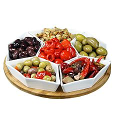 "Elama Signature 12"" 7-piece Lazy Susan Server Set"