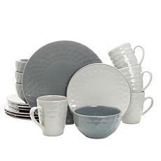 Elama Tahitian Pearl 16-Piece Dinnerware Set