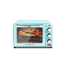 Elite Americana 6-Slice Blue Retro Toaster Oven