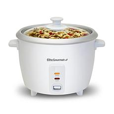 Elite Cuisine 6-Cup Rice Cooker with Glass Lid ERC-003