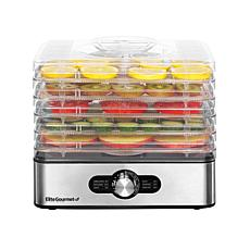 Elite Gourmet 5-Tray Food Dehydrator with Adjustable Temperature