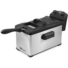 Elite Gourmet Stainless Steel 3.5qt Immersion Deep Fryer w/ Timer
