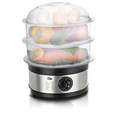 Elite Platinum 3-tier 8.5 Quart Food Steamer