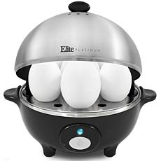 Elite Platinum Egg Cooker w/ Stainless Steel Egg Tray and Lid- 7 Eggs